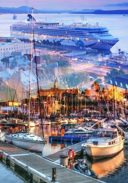 Urban Marina and Dock Photo Montage